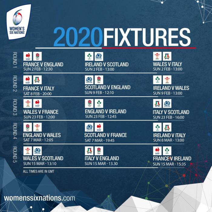 Wales 6 Nations Fixtures