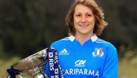 Silvia Gaudino, captain of the Italian women's rugby team